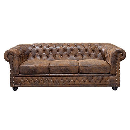 Invicta Interior 17382 Chesterfield Sofa 3-er, Antik Look