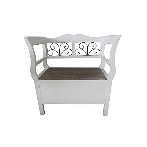 landhaus bank in wei armlehnen pharao24 retro stuhl. Black Bedroom Furniture Sets. Home Design Ideas