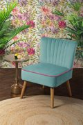 MY-Furniture LOLA OYSTER Retro-Sessel - Aqua