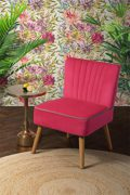MY-Furniture LOLA OYSTER Retro-Sessel - Pink
