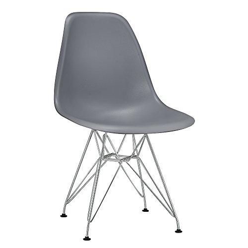 Modern Metall Stuhl Retro Lounge Esszimmer Set Stühle Home Office Design (grau Farbe)
