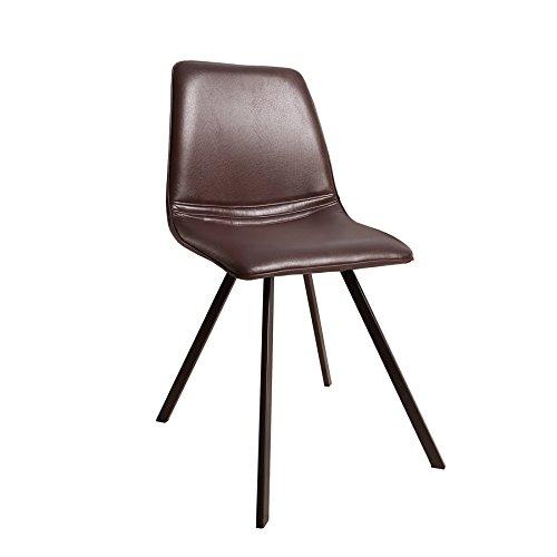 Retro Stuhl Amsterdam Chair Braun Designklassiker Antik Look Esszimmer Stuhl Sternformiges Gestell