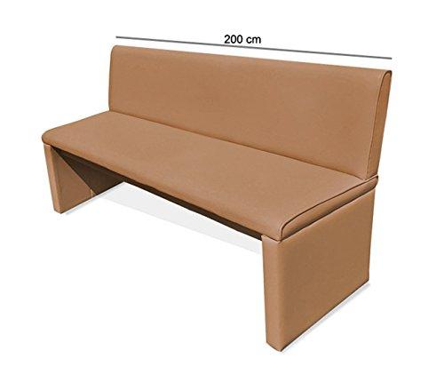 sam esszimmer sitzbank family chaplin in cappuccino 200 cm breite sitzbank mit pflegeleichtem. Black Bedroom Furniture Sets. Home Design Ideas