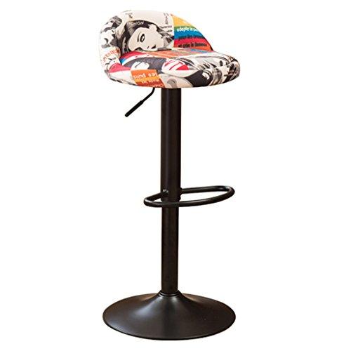 Schmiedeeiserne Barhocker Retro-Barhocker gehobene Barhocker personalisierte Barhocker Vintage-Barhocker können angehoben und gesenkt werden können um 360 Grad gedreht werden