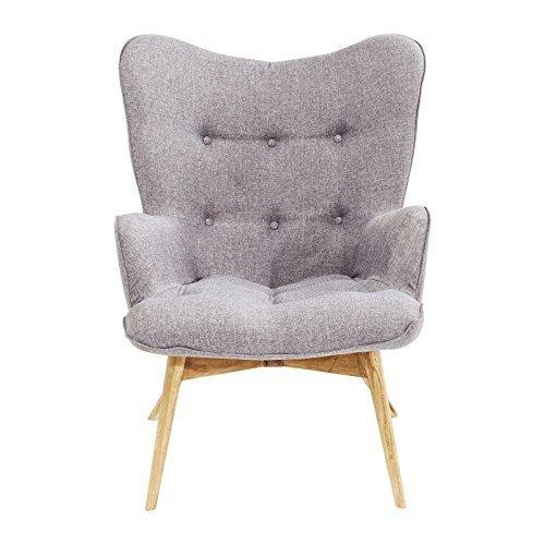 sessel vicky grau kare design retro stuhl. Black Bedroom Furniture Sets. Home Design Ideas