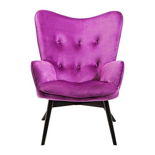 Sessel Vicky Velours Violett Kare Design Retro Stuhl