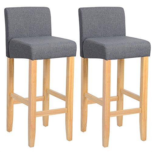 woltu bh02dgr 2 barhocker bistrostuhl holz leinen. Black Bedroom Furniture Sets. Home Design Ideas
