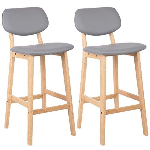 Woltu Bh51gr 2 2 X Barhocker 2er Set Barstühle Gut Gepolsterte