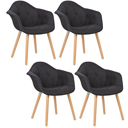 woltu bh55sz 4 4 x esszimmerst hle 4er set esszimmerstuhl mit lehne design stuhl k chenstuhl. Black Bedroom Furniture Sets. Home Design Ideas