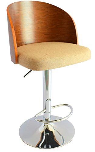 ts ideen 1x design club stuhl barhocker barstuhl k chen esszimmer sitz h henverstellbar stoff. Black Bedroom Furniture Sets. Home Design Ideas