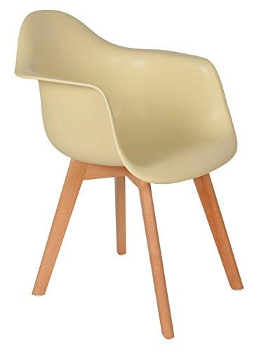 Ts Ideen 1x Design Stuhl Wohnzimmer Esstisch Küchen Esszimmer Sitz Beige  Holz Buche
