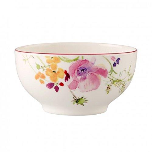 Villeroy & Boch Mariefleur Basic French-Bol / Elegante Schale aus weißem Porzellan mit Blumenmuster / 1 x Porzellanschale mit 750 ml Fassungsvermögen