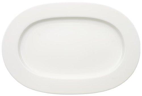 Villeroy & Boch 1044122940 Servierplatte, Porzellan, weiß, 41 x 28,5 x 2 cm