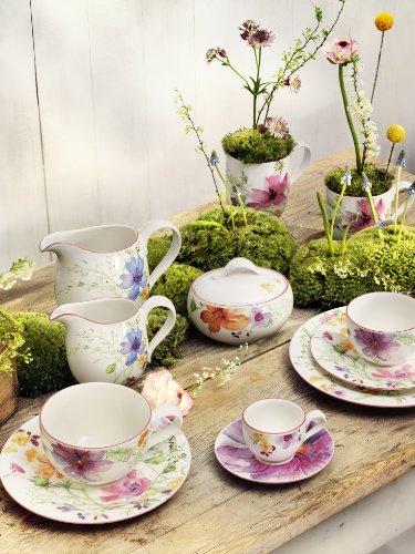 Villeroy & Boch Mariefleur Basic Milchkännchen / Elegantes Geschirr aus Porzellan mit Blumenmuster / 1 x Kännchen mit 300 ml Fassungsvermögen