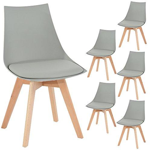 6er set holz k chen st hle eggree retro gepolsterter. Black Bedroom Furniture Sets. Home Design Ideas