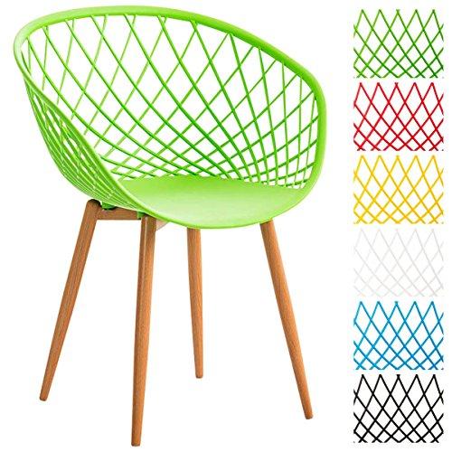 clp esszimmerstuhl mora mit pflegeleichter kunststoff sitzschale retrostuhl mit lehne und. Black Bedroom Furniture Sets. Home Design Ideas