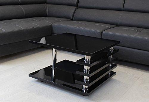 couchtisch schwarz 65x65cm wohnzimmer tisch lack beistelltisch hochglanz retro stuhl. Black Bedroom Furniture Sets. Home Design Ideas