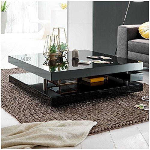 couchtisch schwarz hochglanz quadratisch piazza 100x100cm. Black Bedroom Furniture Sets. Home Design Ideas