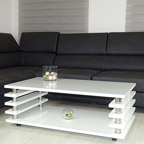 couchtisch wei 115x65cm wohnzimmer tisch lack beistelltisch hochglanz 0 retro stuhl. Black Bedroom Furniture Sets. Home Design Ideas