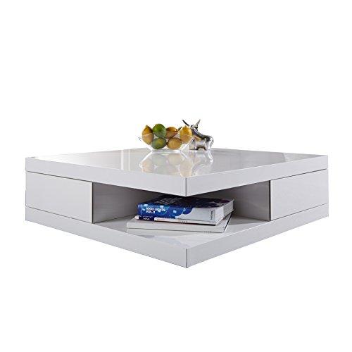 edler design couchtisch function wei hochglanz 2 schubladen beistelltisch retro stuhl. Black Bedroom Furniture Sets. Home Design Ideas