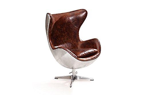 egg chair aus leder rose moore retro stuhl. Black Bedroom Furniture Sets. Home Design Ideas