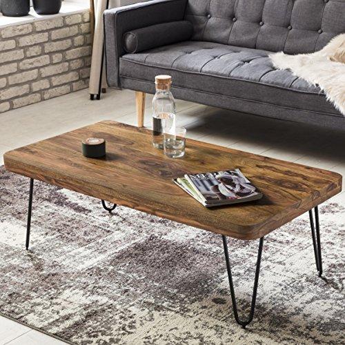 finebuy couchtisch massiv holz sheesham 115 cm breit. Black Bedroom Furniture Sets. Home Design Ideas