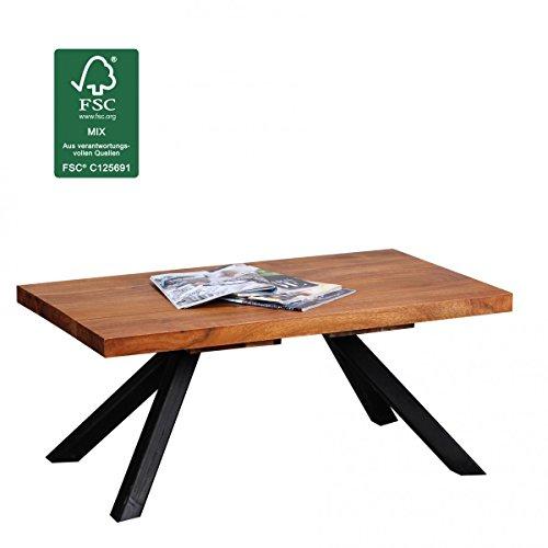 Finebuy Couchtisch Massiv Holz Sheesham 90 Cm Breit Wohnzimmer Tisch