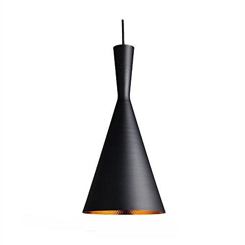 glighone modern pendelleuchte schwarz industrie h ngeampe metall retro deckenleuchte e27 19cm. Black Bedroom Furniture Sets. Home Design Ideas