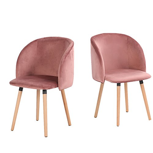 h j wedoo 2er set esszimmerstuhl samt weich kissen sitz. Black Bedroom Furniture Sets. Home Design Ideas
