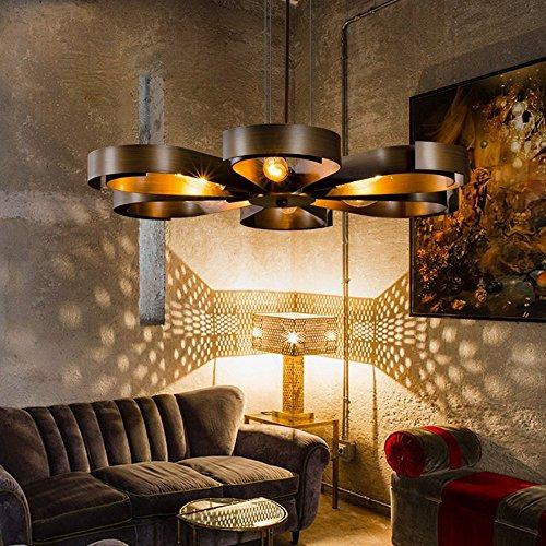 Wohnzimmer Restaurant, kreative industrie stil retro petal form eisen pendelleuchte, Design ideen