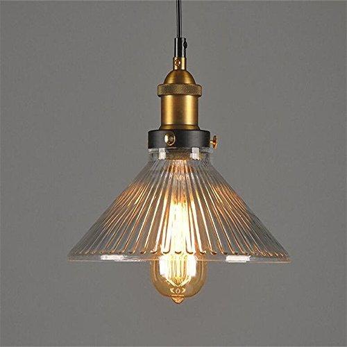 Lightsjoy Industrial Pendelleuchten Hängeleuchte Glas Vintage Industire  Hängelampe Pendellampe Deckenlampe...