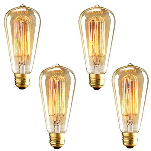 litehaus 4 retro gl hbirne f r deckenleuchte pendelleuchte leuchtmittel industria filament st64. Black Bedroom Furniture Sets. Home Design Ideas