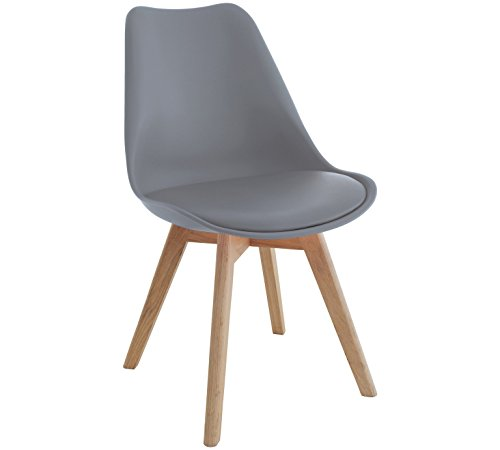 moderne retro stuhl design esszimmer wohnzimmer wei stuhl holz 80x50x49cm grau retro stuhl. Black Bedroom Furniture Sets. Home Design Ideas
