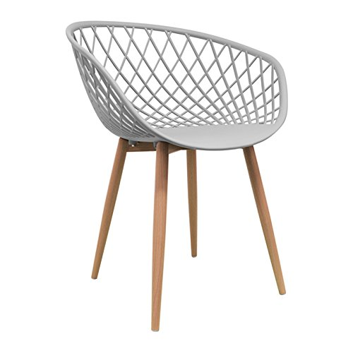 Nordische Stuhl Esszimmer Massivholz Esszimmerstuhl Nordic Saga (wählen Sie Ihre Farbe) grau