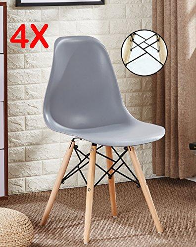 P N Homewares Set Von 4 Romano Ds Moda Stuhl Kunststoff