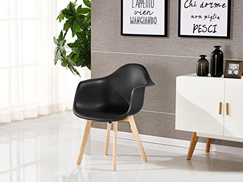 p n homewares rico da tub stuhl skandinavisch esszimmerstuhl b rostuhl wohnzimmer stuhl in wei. Black Bedroom Furniture Sets. Home Design Ideas