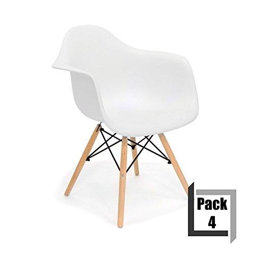 designer stuhl wei eames excellent mcc eames design stuhl lizzie retro stuhl mit armlehnen und. Black Bedroom Furniture Sets. Home Design Ideas
