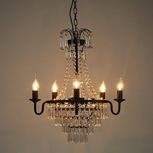 retro vintage h ngeleuchte pendelleuchte luxuri s kristall kristallbehang h ngelampe schwarz. Black Bedroom Furniture Sets. Home Design Ideas