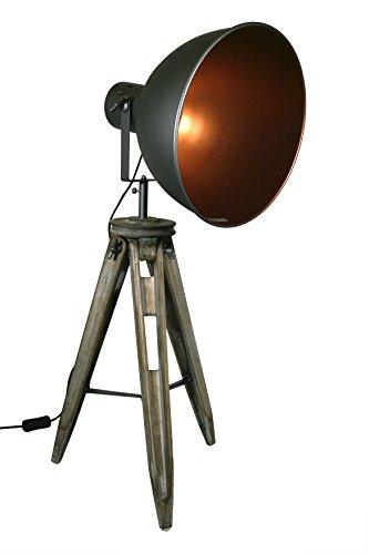 STATIV STEHLEUCHTE STUDIOLAMPE STEHLAMPE SPOT Schwarz/Gold Lampe H 90cm 605456