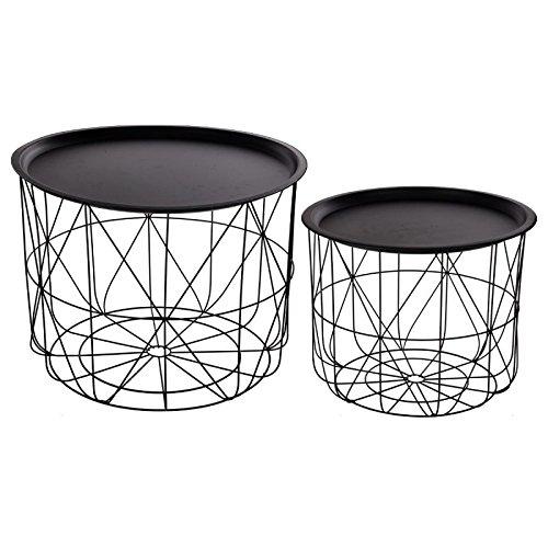 Set aus 2 satztischen mit abnehmbaren tischplatten for Designer tischplatten