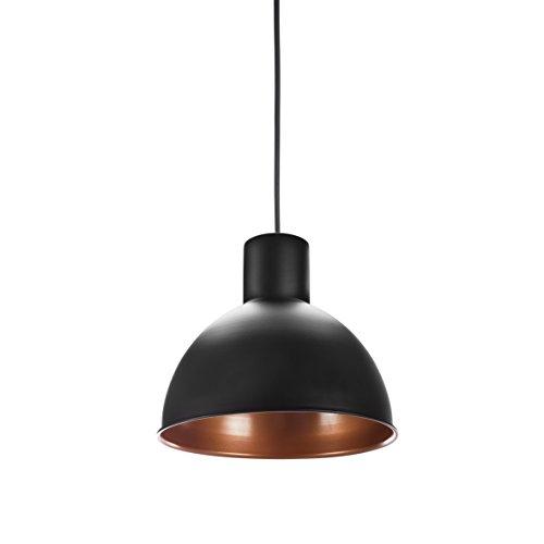 Smartwares Moderne Hängeleuchte / Industrielampe, Aluminium Schwarz-Bronze, 30cm Durchmesser, IP-002-B