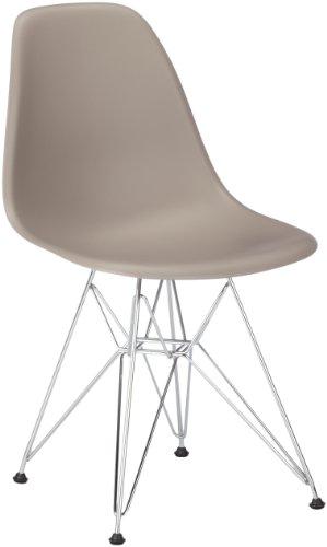 vitra 440022000125 stuhl dsr eames plastic sidechair gestell verchromt mauve grau retro stuhl. Black Bedroom Furniture Sets. Home Design Ideas