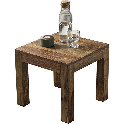 wohnling couchtisch massiv holz sheesham 45 cm breit wohnzimmer tisch design dunkel braun. Black Bedroom Furniture Sets. Home Design Ideas