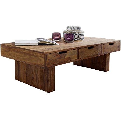 Wohnling couchtisch massivholz sheesham design wohnzimmer for Design tisch massivholz