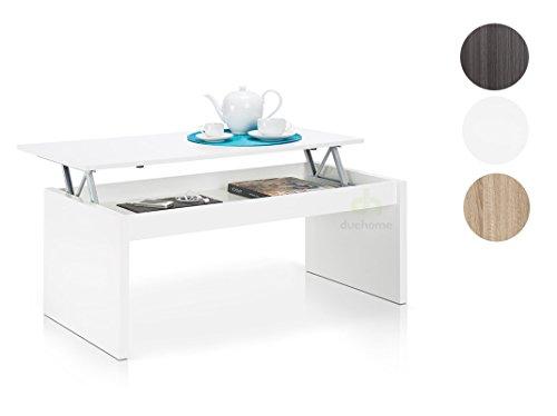 due home couchtisch wei gl nzend mit tablett klappsitz retro stuhl. Black Bedroom Furniture Sets. Home Design Ideas