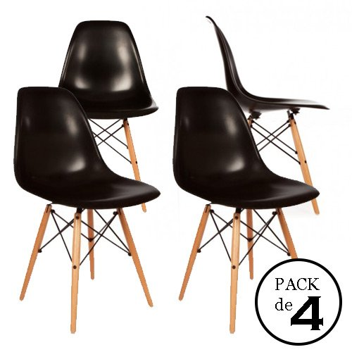 retro stuhl homment eames dsw schwarz 4u pack von sthlen 0. Black Bedroom Furniture Sets. Home Design Ideas