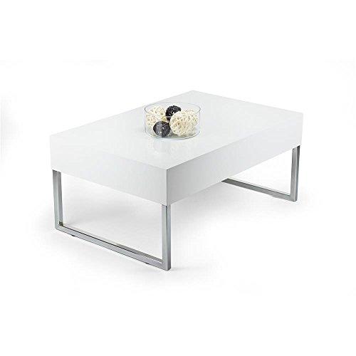 mobilifiver evo xl couchtisch holz wei gl nzend 90 x 60 x 40 cm retro stuhl. Black Bedroom Furniture Sets. Home Design Ideas