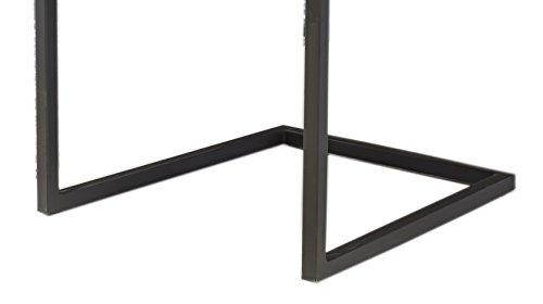 SalesFever® Stilvoller Esszimmerstuhl im 2er Set Alessia in Buffalo Braun, Stuhl mit Armlehnen und Kunstleder bezogen, massive schwarz lackierte Füße