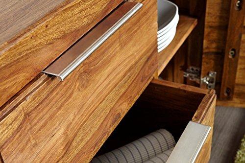 Dunord Design Sideboard Kommode Arona 140cm Massivholz Sheesham