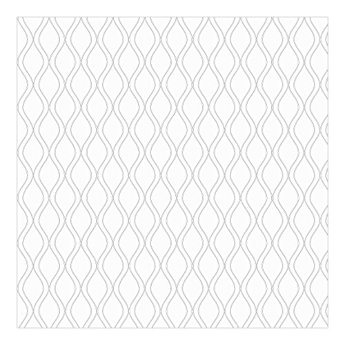 Apalis Moderne Vliestapete helles Retro Muster mit grauen Wellen Fototapete Quadrat | Vlies Tapete Wandtapete Wandbild Foto 3D Fototapete für Schlafzimmer Wohnzimmer Küche | Größe: 240x240 cm, mehrfarbig, 106746